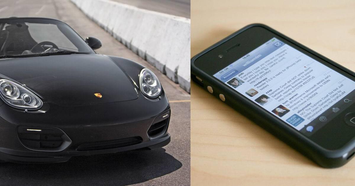 历经2年14次物物交换!外国少年用旧手机换一辆保时捷跑车!