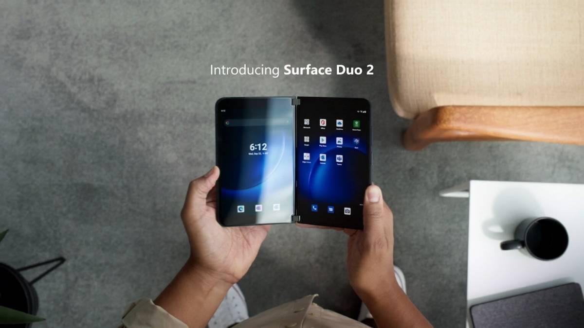 Microsoft发布升级版折叠手机——  Surface Duo 2!功能全面升级、双8.3寸屏幕、支援5G功能!