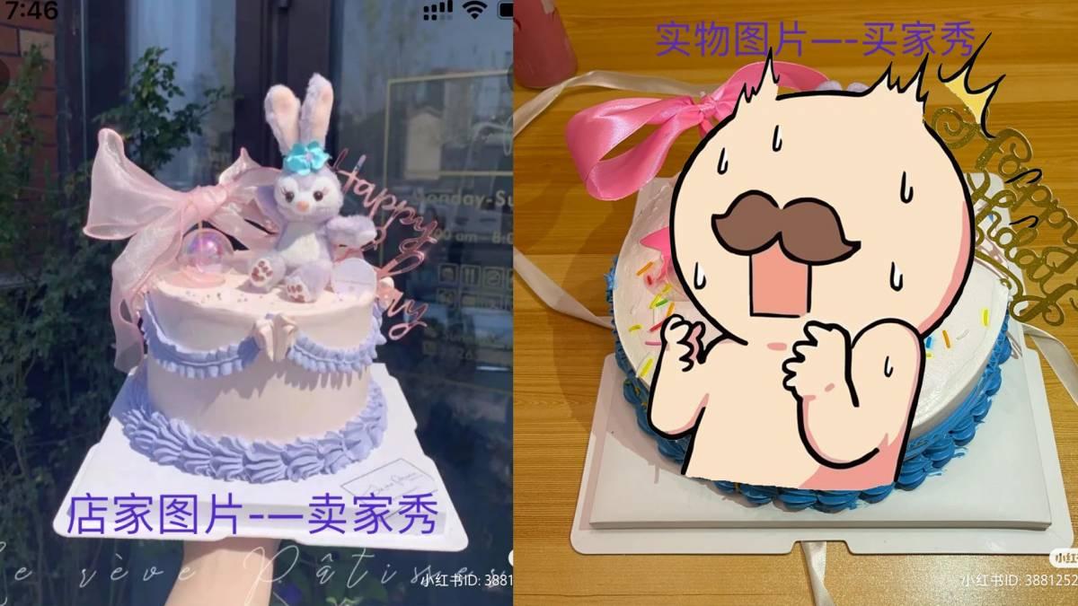 网友:我的星黛露蛋糕翻车了!!买家秀VS买家秀,收到蛋糕那一刻直接崩溃了!