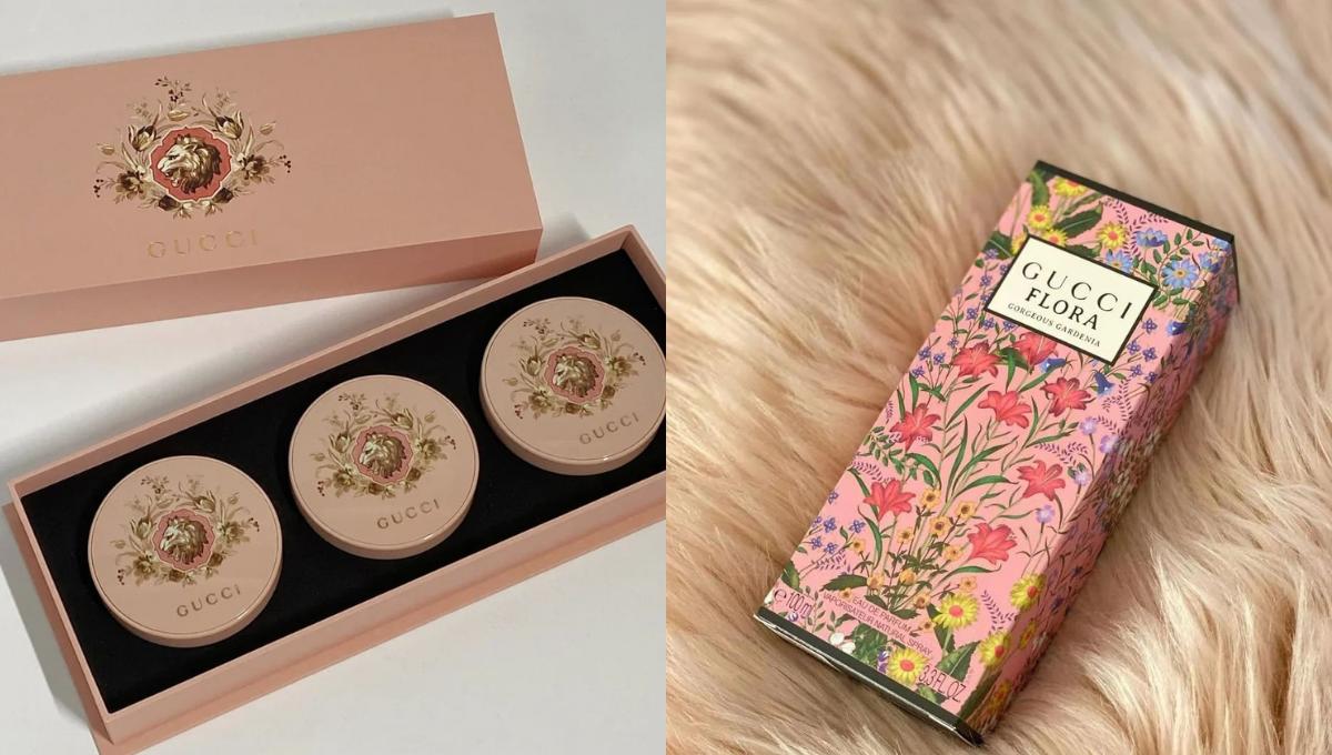 GUCCI复古风新品:金狮气垫粉饼&栀子花香水!单是包装就美哭了,女孩们尖叫吧!