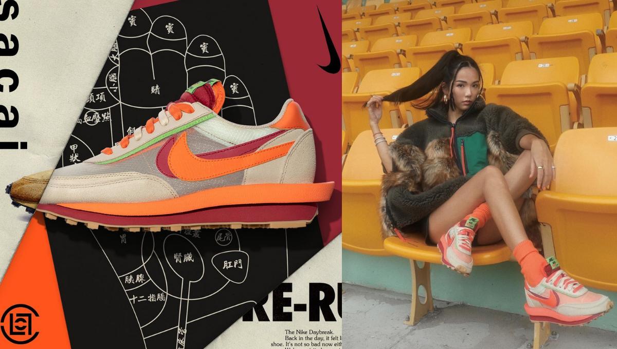 CLOT x sacai x Nike LDWaffle三方联名推时尚帅鞋!橙色主调简直不要太潮!
