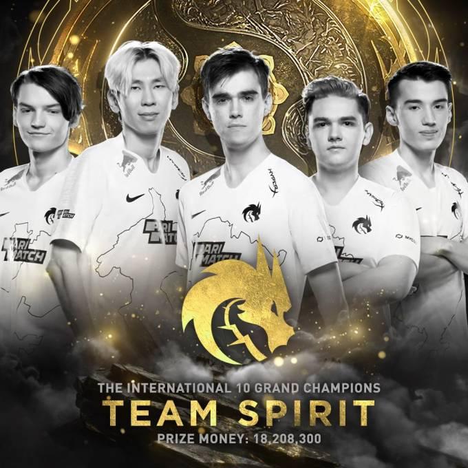 Team Spirit以3-2击败PSG.LGD夺得DOTA 2 TI10冠军!中国队伍饮恨居亚!