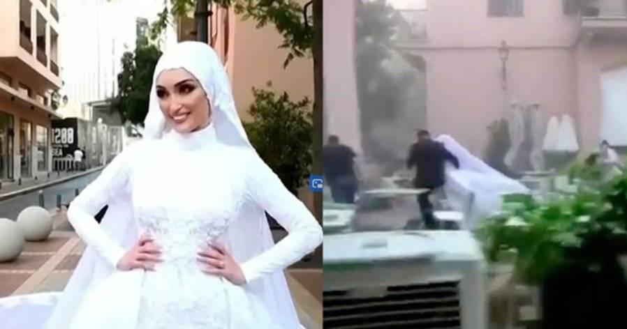 黎巴嫩大爆炸毁了女孩一生的梦想?婚纱照拍到一半变刺激电影!