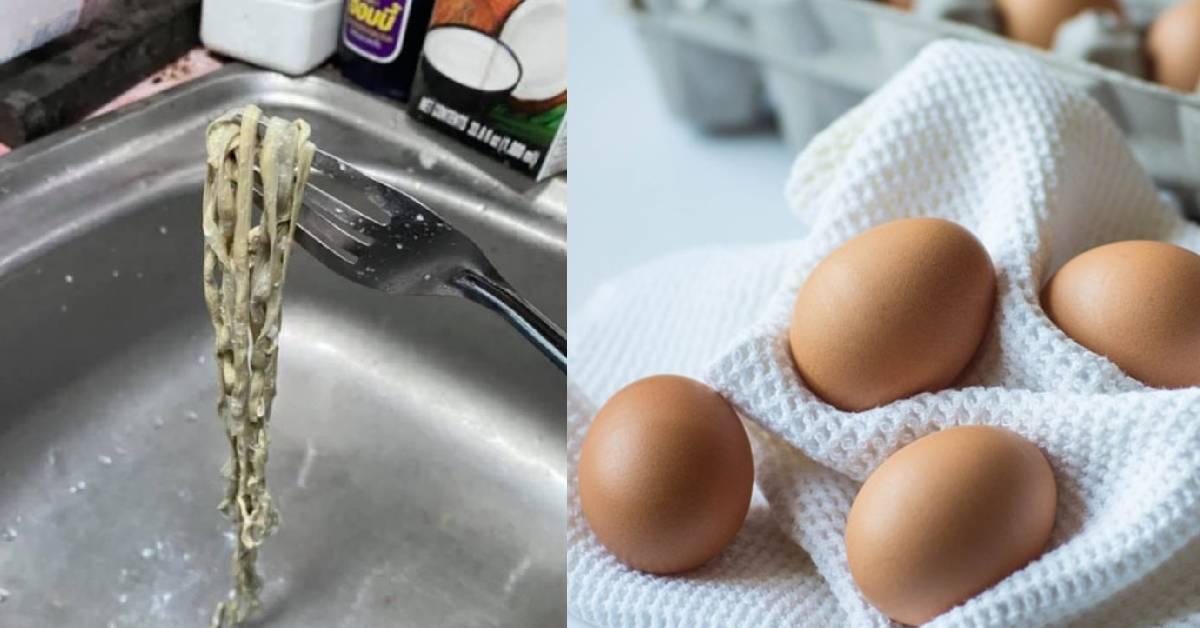 """泰国妇女惊见鸡蛋藏""""面条""""!现场画面简直令人恶心想吐!买鸡蛋要小心!"""