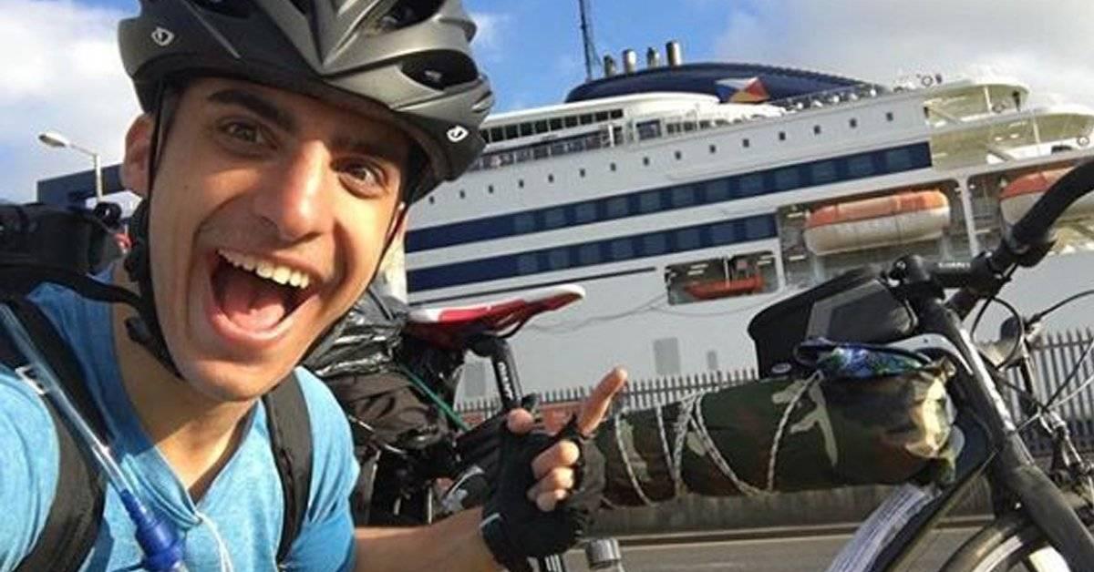 回家的航班被取消!男子狂踩脚车48天横跨5个国家回到希腊!