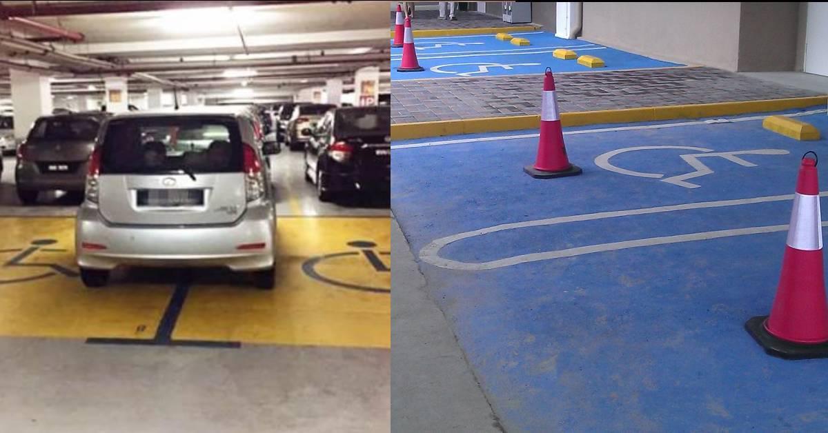 太缺德了!大马男子为了占用OKU停车位居然干傻事!