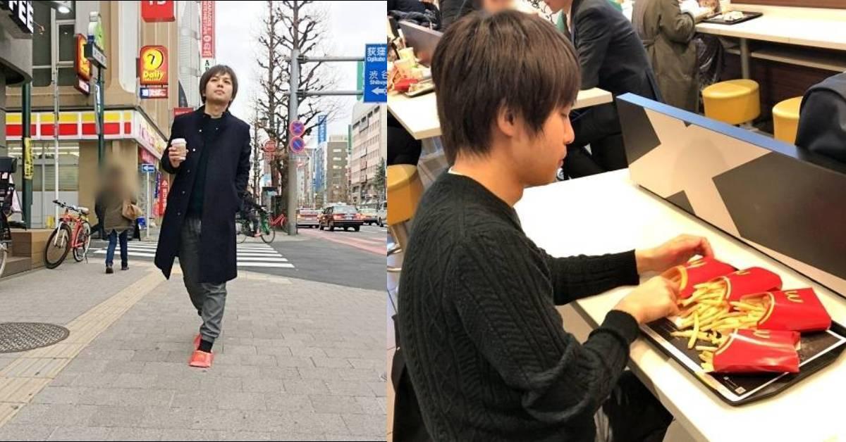 超级牛逼!超狂日本人把MCD薯条盒穿上东京街头引起热议!