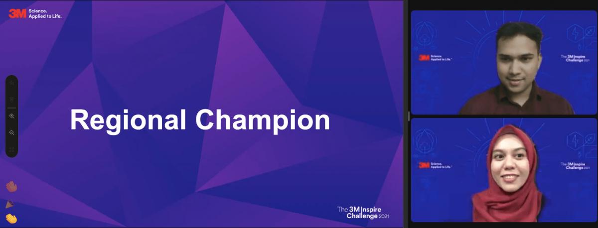 3M灵感挑战赛成绩出炉!2名国立大学的学生摘区域冠军!