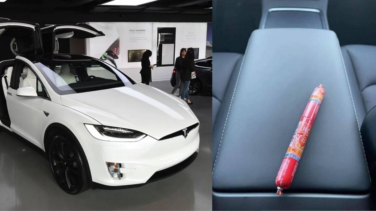 买车送火腿肠?挪威Tesla Model Y车主,在新车内发现中国品牌火腿肠!
